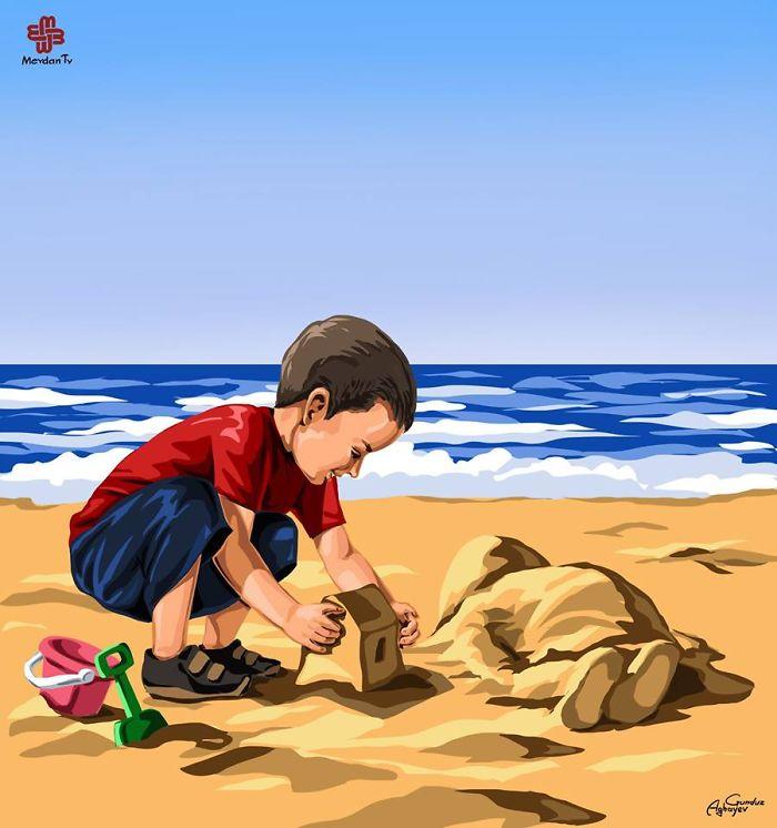respuesta-artistica-nino-refugiado-sirio-ahogado (1)