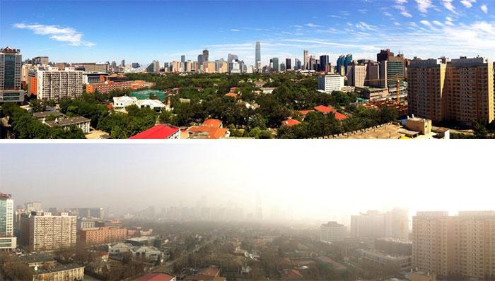 Pekín restringe 2'5 millones de coches y los vecinos ven el cielo azul por 1ª vez en mucho tiempo