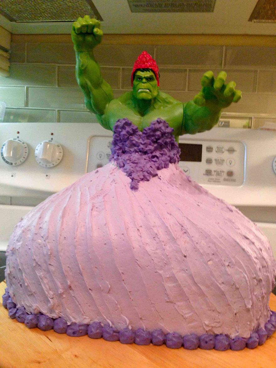 tarta-cumpleanos-hulk-princesa-gemelas