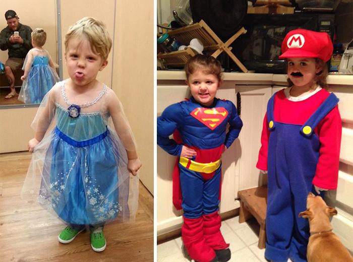 15 Niños que se pusieron disfraces de Halloween sin preocuparse del género