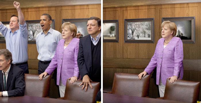 Este es el aspecto de la política cuando borras a los hombres de las fotos