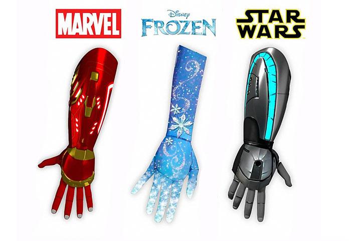 Se fabricarán prótesis biónicas de Disney para niños