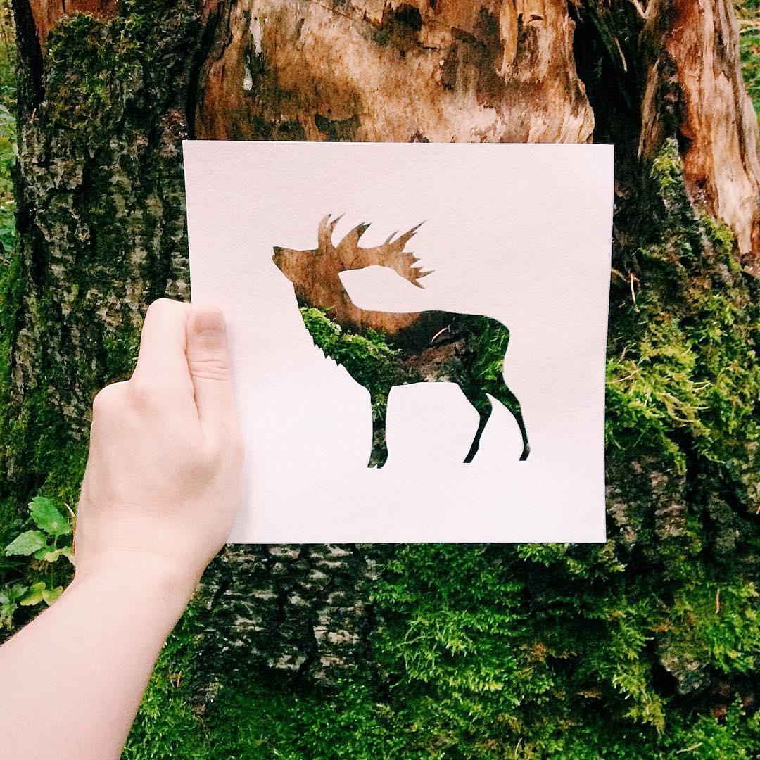 Este Artista Usa La Naturaleza Para Colorear Sus Siluetas De