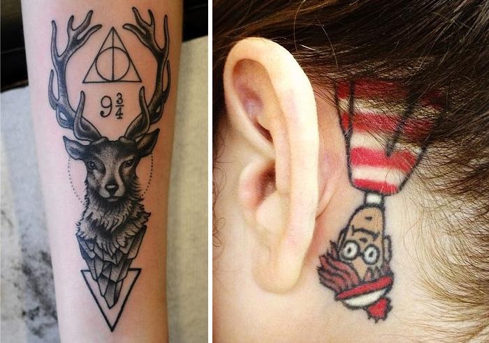 16 Tatuajes inspirados en libros para los ratones de biblioteca