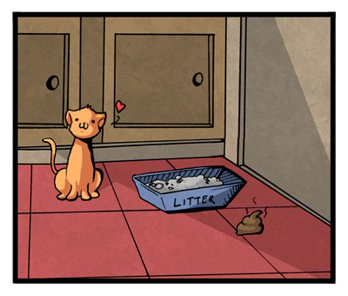 19 Cómics que resumen perfectamente cómo es vivir con gatos