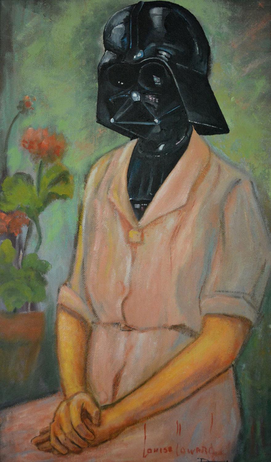 Personajes de la cultura pop incorporados en viejas pinturas de 2ª mano