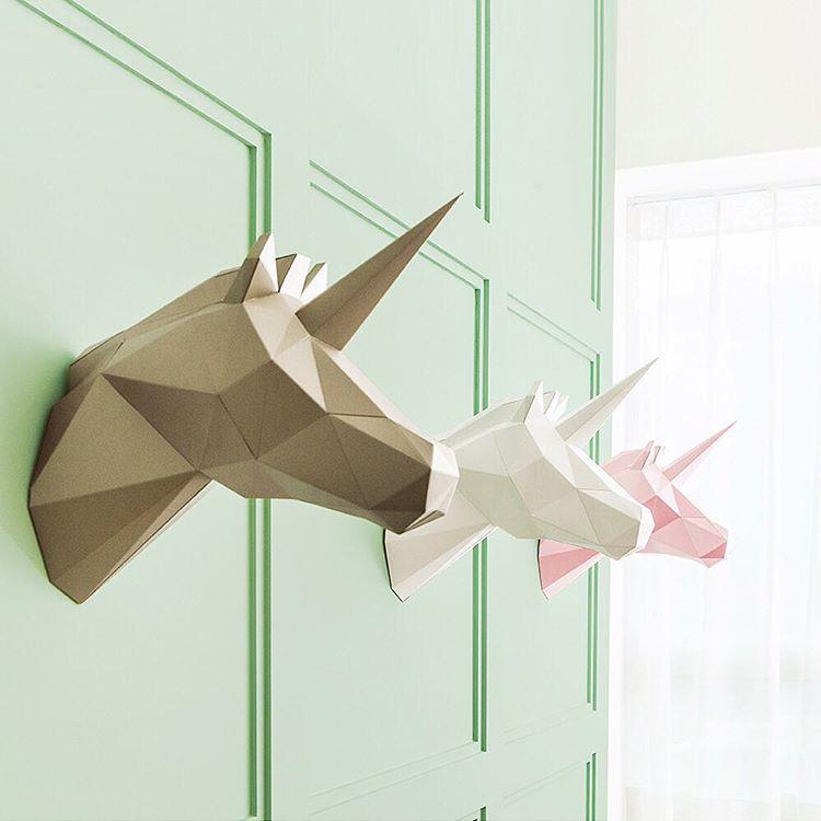 Decora tu casa con estas esculturas geométricas de papel que puedes doblar tú mismo sin matar ningún animal