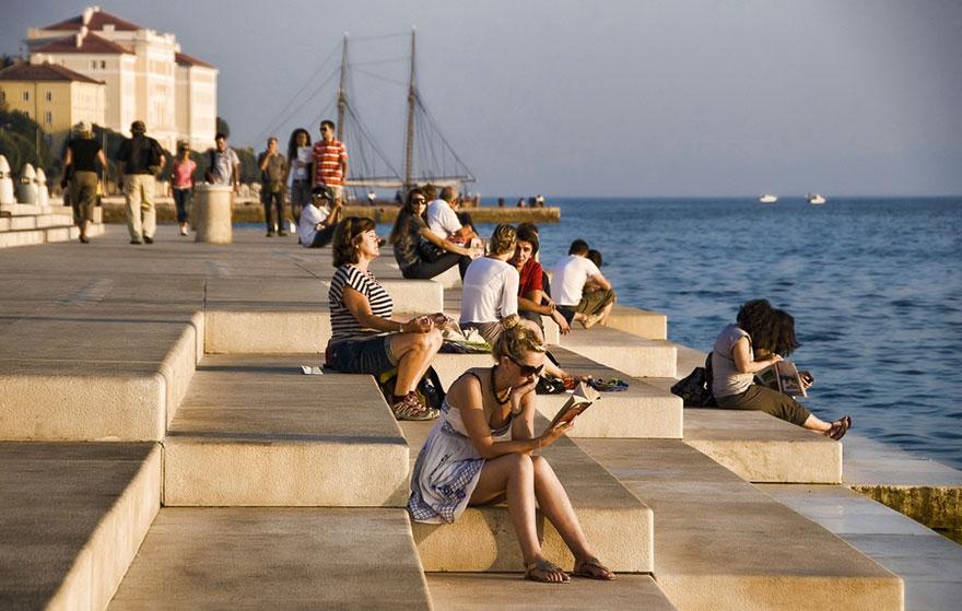 Este órgano de 70 metros utiliza el mar para crear música evocadora en Croacia