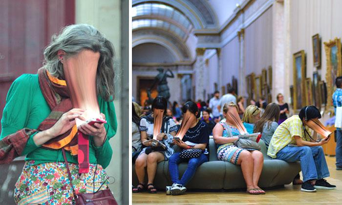 Estas fotos muestran cómo la adicción al móvil nos roba el alma