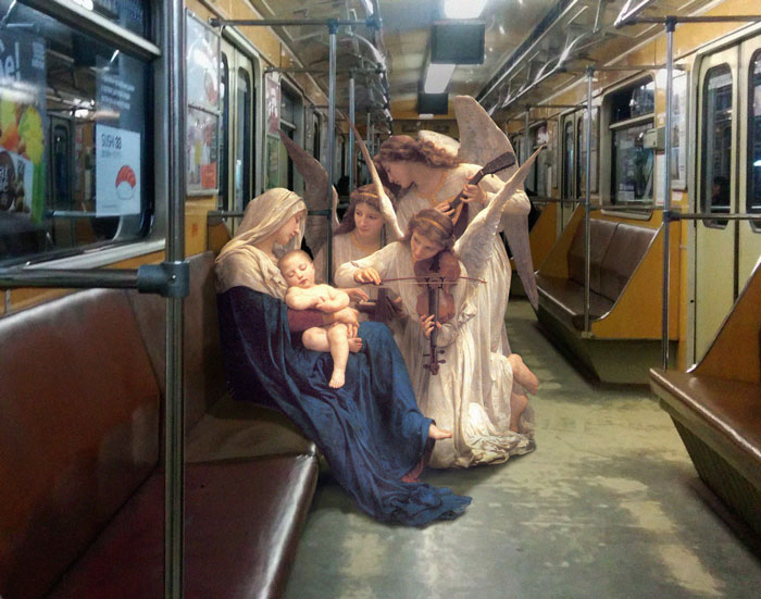 Los personajes de las pinturas clásicas se van de juerga por las calles (2ª parte)
