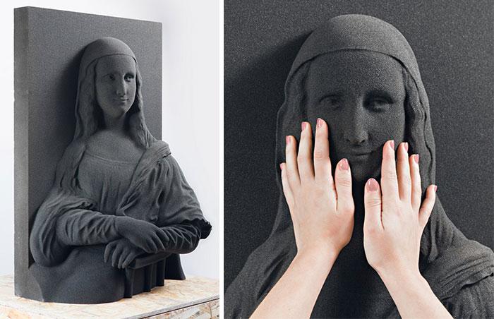 """Estas pinturas clásicas han sido impresas en 3D para que los ciegos puedan """"verlas"""" por 1ª vez"""