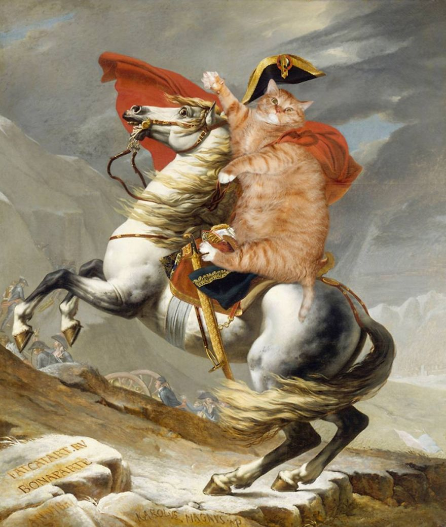 pinturas-famosas-con-gato-Ginger-svetlana-petrova (2)