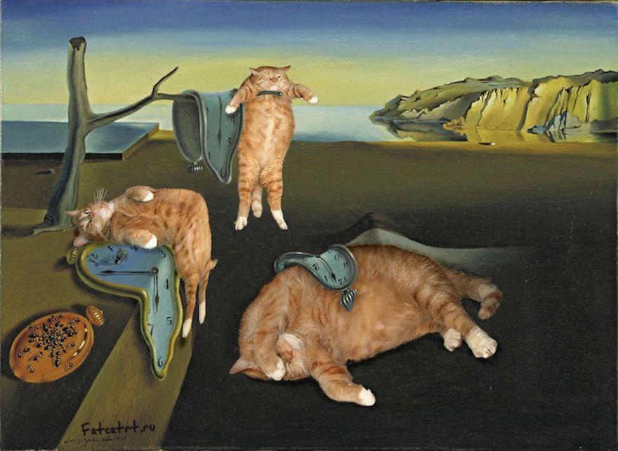 pinturas-famosas-con-gato-Ginger-svetlana-petrova (3)