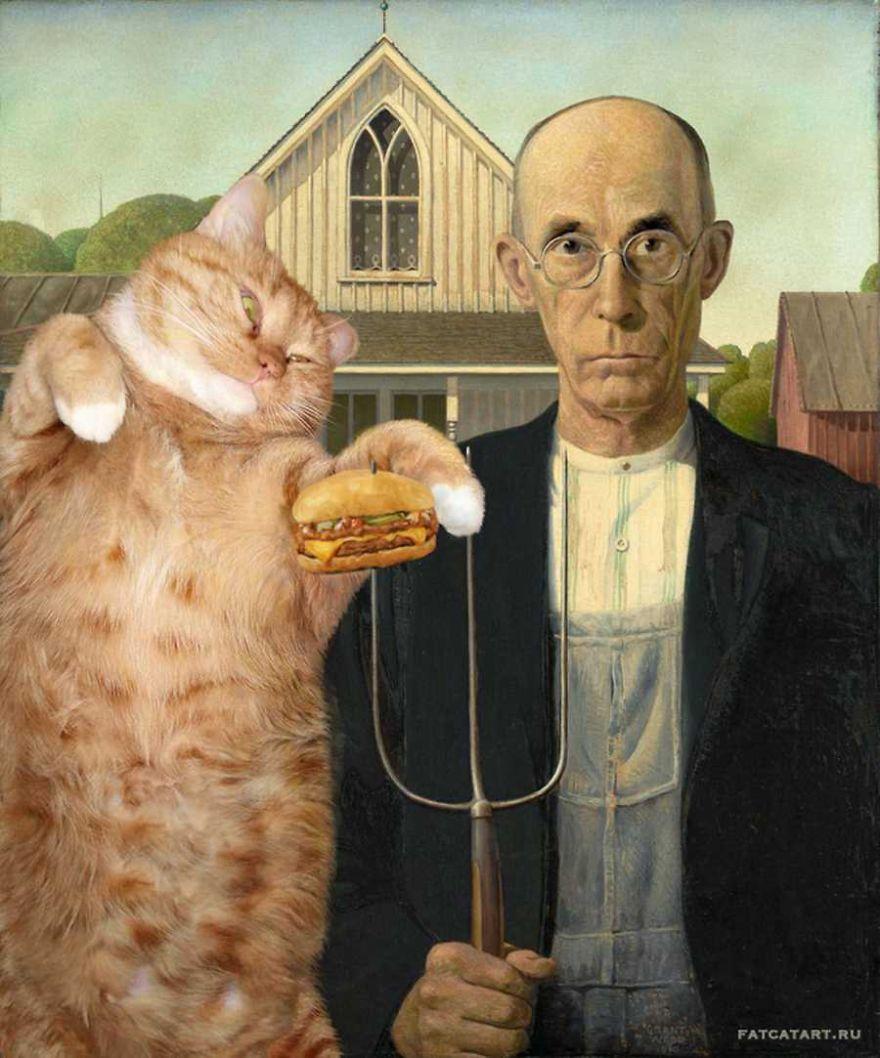 pinturas-famosas-con-gato-Ginger-svetlana-petrova (7)