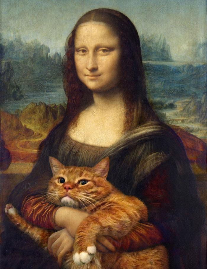 El arte de un gato gordo: introduzco mi gato pelirrojo en pinturas famosas