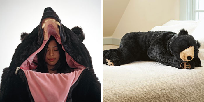 Con este saco de dormir en forma de oso nadie te despertará