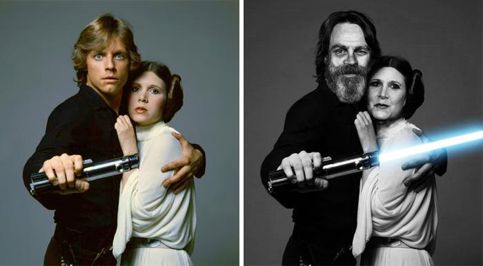 Los actores de La Guerra de las Galaxias antes y ahora