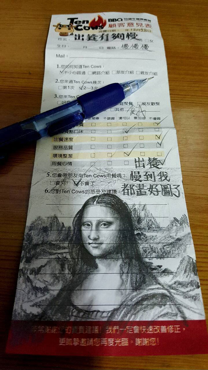restaurante-lento-dibujo-cliente-mona-lisa-china