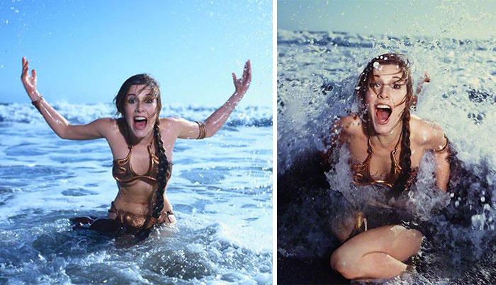 8 Fotos antiguas de Carrie Fisher promocionando el Retorno del Jedi en 1983