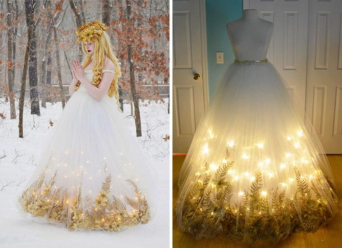 Esta talentosa chica de 18 años crea asombrosos vestidos que parecen salidos de películas Disney