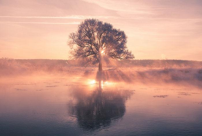 Este fotógrafo bielorruso se levanta muy temprano para captar la belleza del invierno
