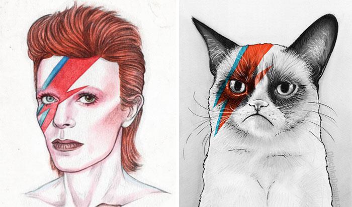 Los artistas rinden homenaje al fallecido David Bowie