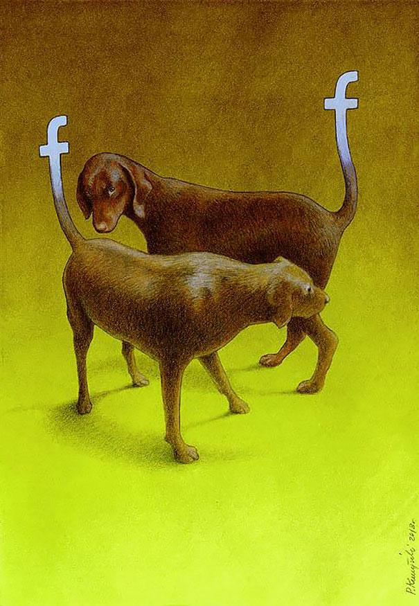 >>>Ilustraciones Satíricas..>>> - Página 2 Ilustraciones-satiricas-adiccion-tecnologia-11