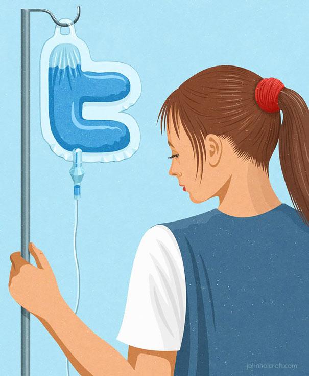 >>>Ilustraciones Satíricas..>>> - Página 2 Ilustraciones-satiricas-adiccion-tecnologia-20