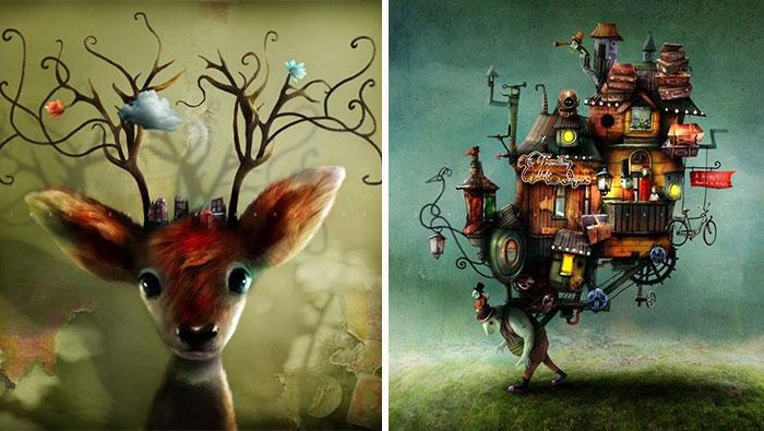 Ilustraciones de cuento de hadas por el artista sueco Alexander Jansson