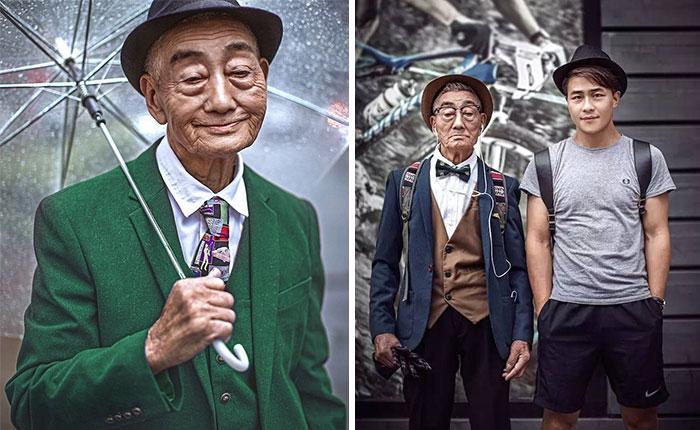 Este granjero de 85 años fue transformado por su nieto en un icono de la moda