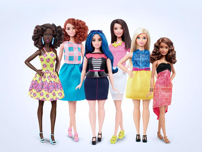 Barbie lanza 3 nuevas muñecas con formas corporales realistas