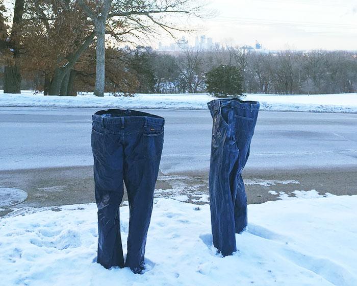 Hace tanto frío en Minnesota que hasta los fantasmas llevan pantalones