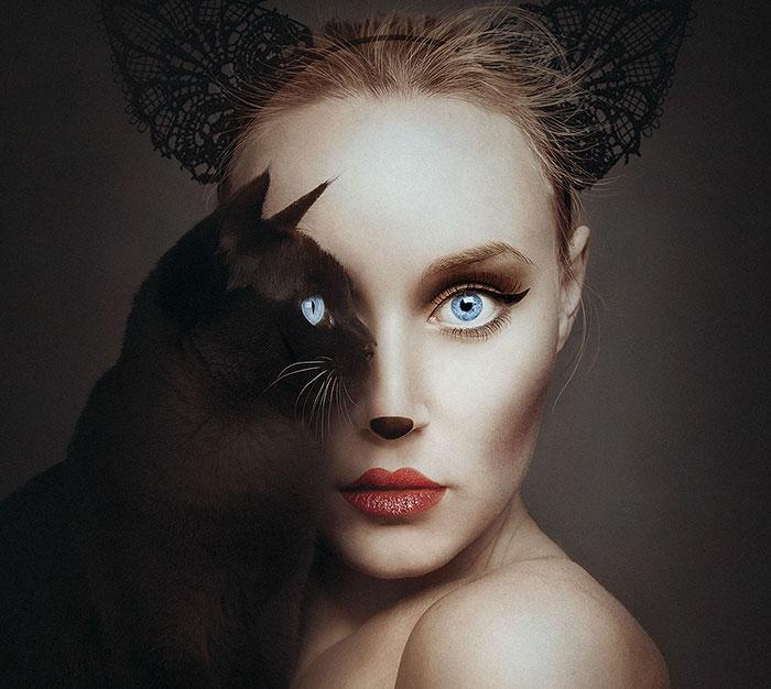 Esta artista se convierte en uno con los animales reemplazando su ojo con los suyos