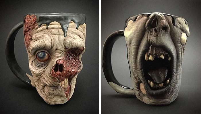 Ahora puedes beberte el café en una cabeza zombi