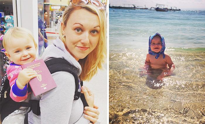 Este bebé de 1 año lleva viajando por el mundo desde que nació