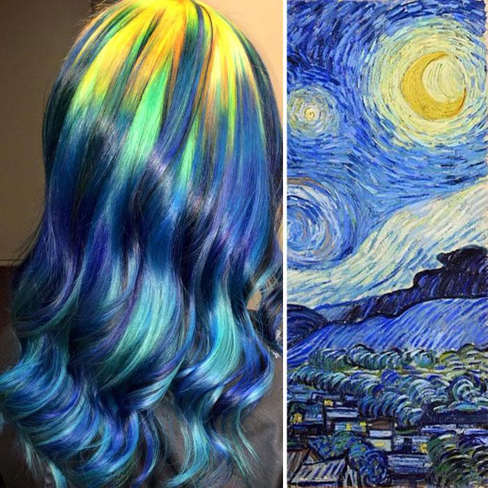 Esta peluquera convierte el cabello en obras de arte clásico
