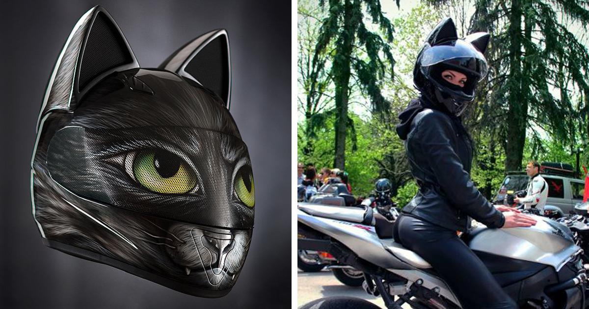 Cascos de moto con orejas de gato   No Puedo Creer   Bloglovin'