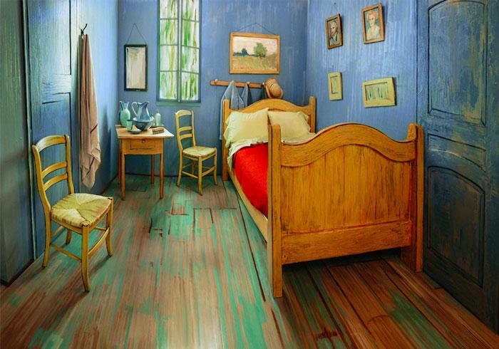 Unos artistas recrean el icónico dormitorio de Van Gogh y lo ponen en Airbnb