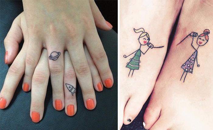 25 Ideas de tatuajes para mostrar el vínculo entre hermanas