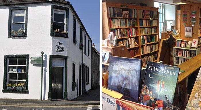Los viajeros que pernoctan en este lugar de Escocia se turnan para llevar la librería del piso de abajo
