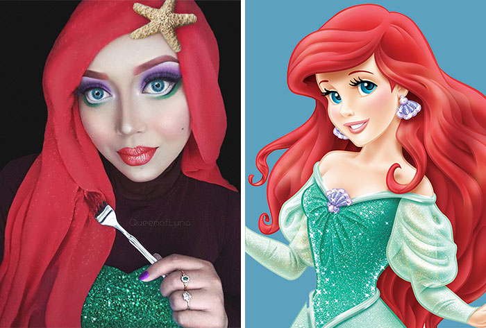 Hijab Disney: Esta mujer usa su hijab para transformarse en princesas Disney