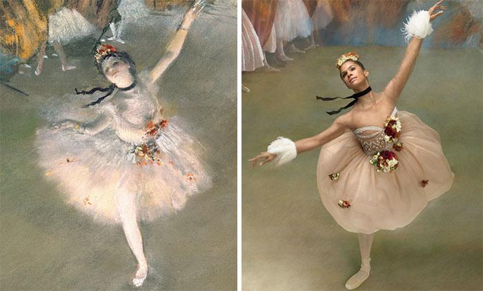 Esta bailarina recrea los cuadros de Edgar Degas