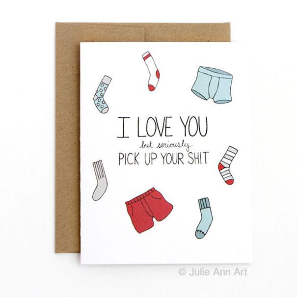 Tarjetas anti San Valentín para parejas con sentido del humor