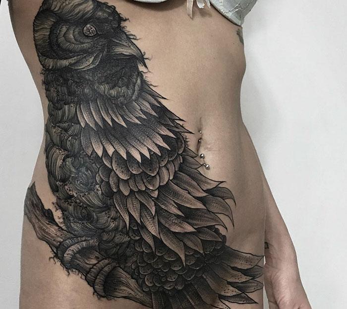 Tatuajes de oscuras y tenebrosas criaturas creados por un tatuador ruso
