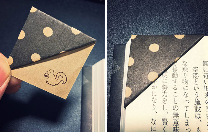 Truco sencillo para hacer tus propios marcapáginas de origami