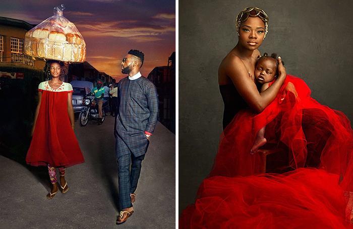 Esta vendedora de pan nigeriana hizo photobomb accidentalmente a una estrella del pop y consiguió un contrato de modelo
