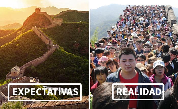 Expectativas al viajar contra la realidad