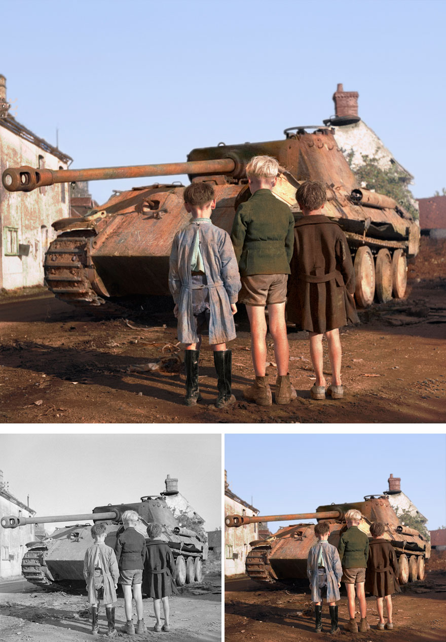 Esta artista colorea fotos antiguas en blanco y negro dando vida a la historia