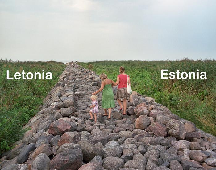 El aspecto de las fronteras pacíficas entre los países europeos