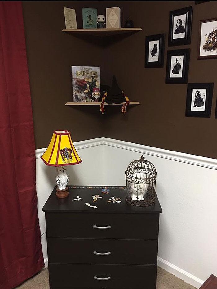 Estos padres crearon una habitaci n de harry potter para for Harry potter cuartos decoracion